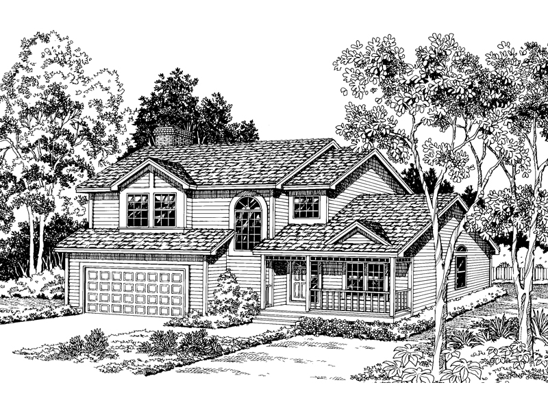 Country House Plan Front of Home - 038D-0467 | House Plans and More