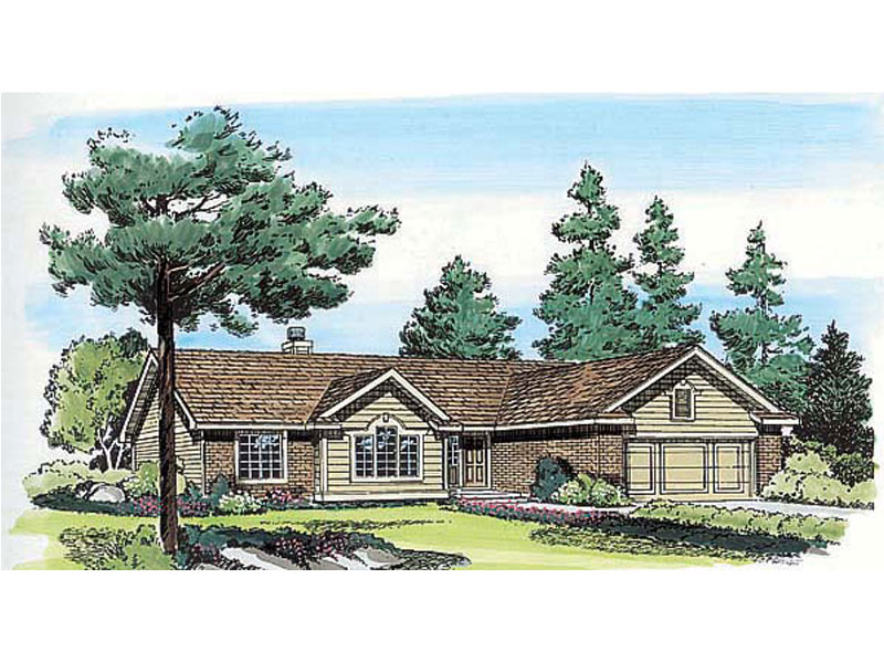 Classic Traditional Ranch Home Design