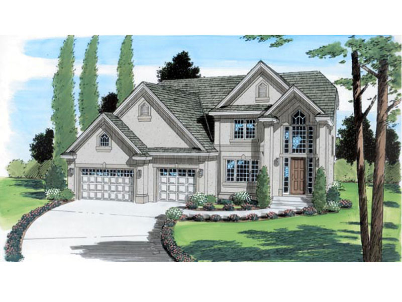 Prairie Style Floor Plan Front of Home - 038D-0504 | House Plans and More