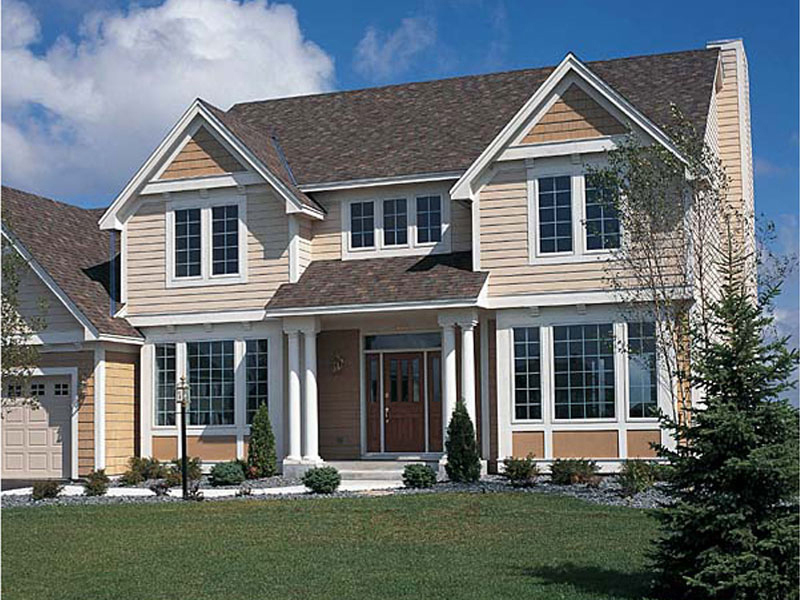 Early American House Plan Front of Home 038D-0510