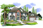 Double Bay Windows Accentuate The Elegance Of This Plan