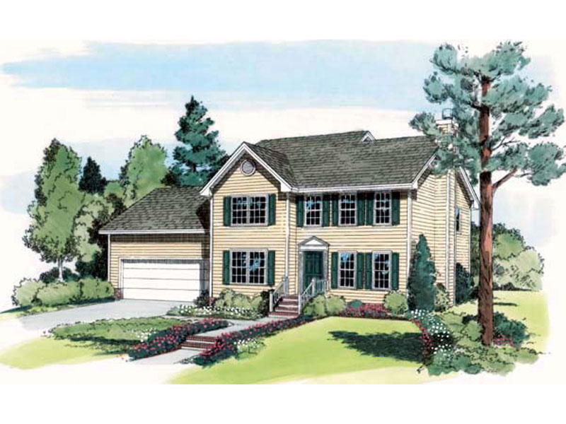 Early American House Plan Front of Home - 038D-0523 | House Plans and More