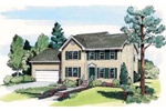 Traditional Colonial Home Plan