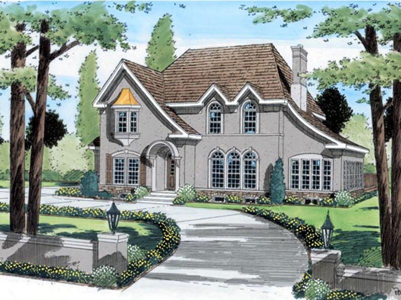 Sensational Stucco European Home Design