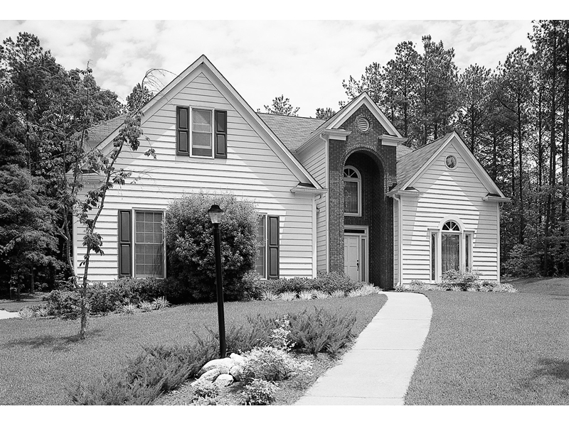 Welcoming Traditional Home Plan With Triple Gables