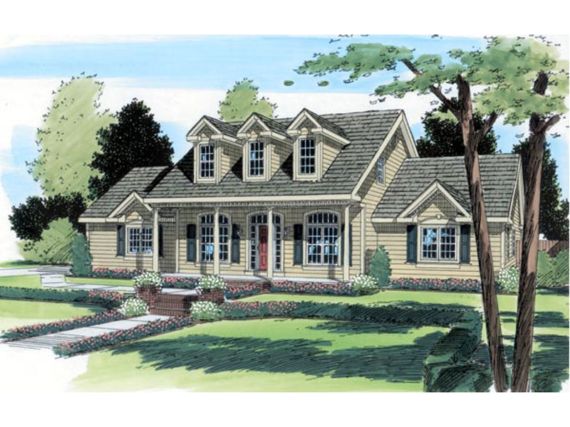 Cape Cod & New England House Plan Front of Home - 038D-0540 | House Plans and More