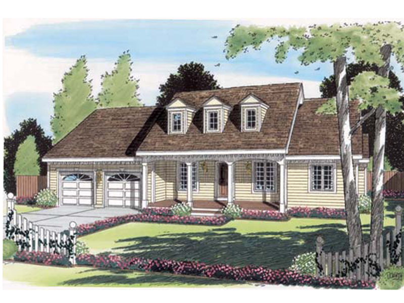 Cape Cod & New England House Plan Front of Home - 038D-0547 | House Plans and More