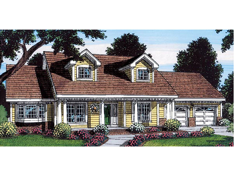 Cape Cod & New England House Plan Front of Home - 038D-0551 | House Plans and More