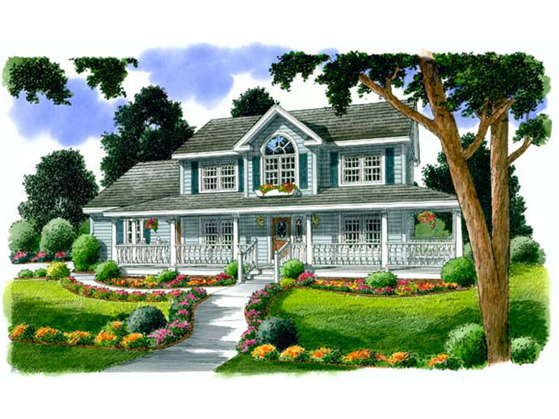Traditional House Plan Front of Home - 038D-0556 | House Plans and More