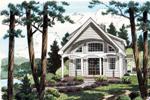 Unique Arched Details Compliment This Plan