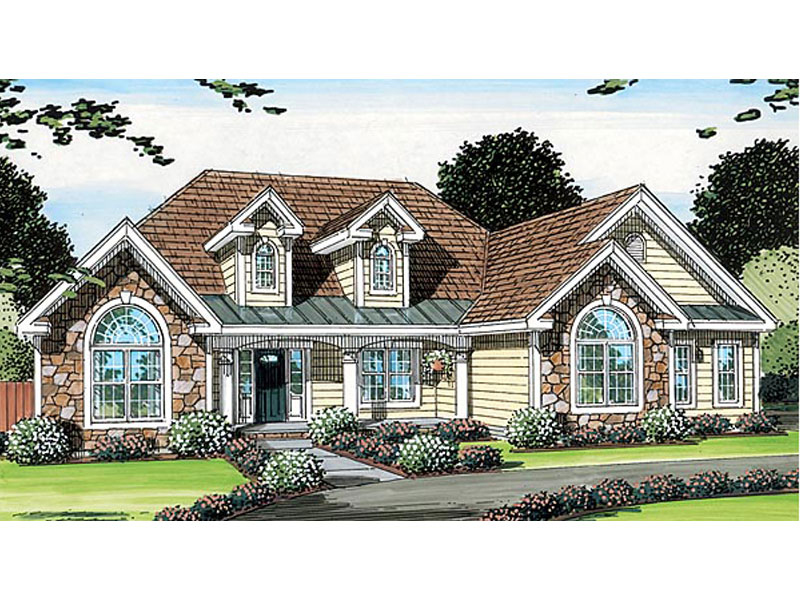 Country House Plan Front of Home - 038D-0567 | House Plans and More