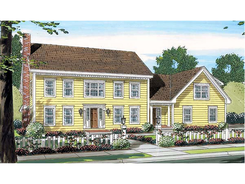Grand Colonial, Early American Home Plan