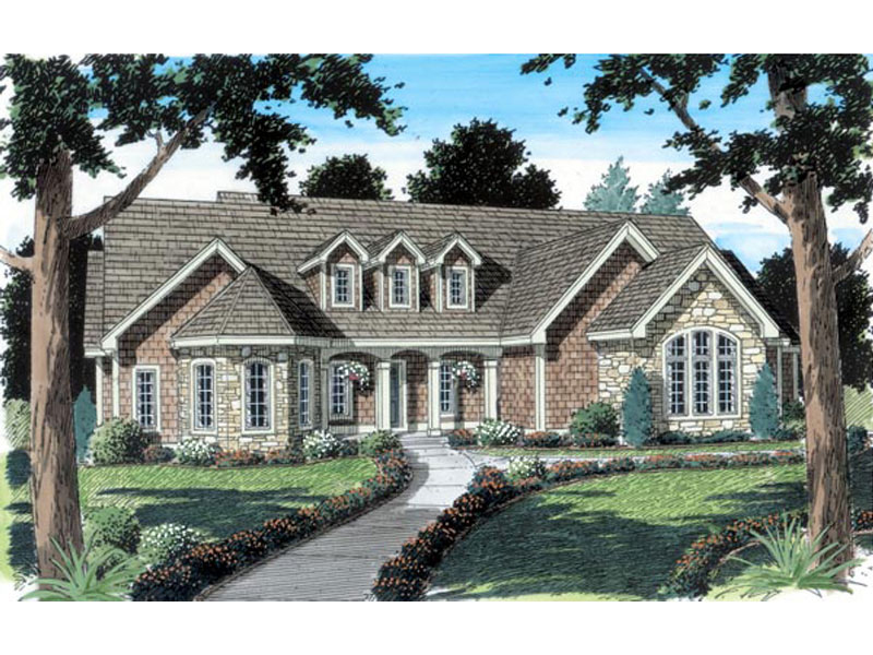 European Styled Home With Country French Mix