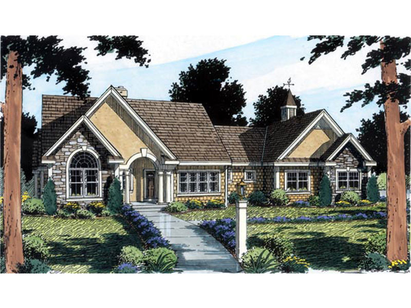 Ranch House Plan Front of Home - 038D-0575 | House Plans and More