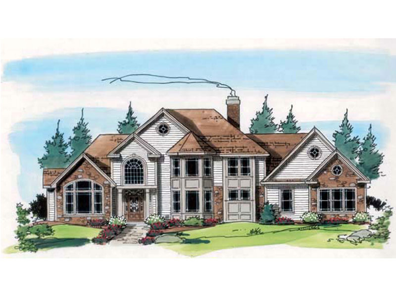 Farren manor european home plan 038d 0580 house plans for European manor house plans