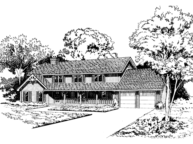Rustic Home Plan Front of Home - 038D-0613 | House Plans and More