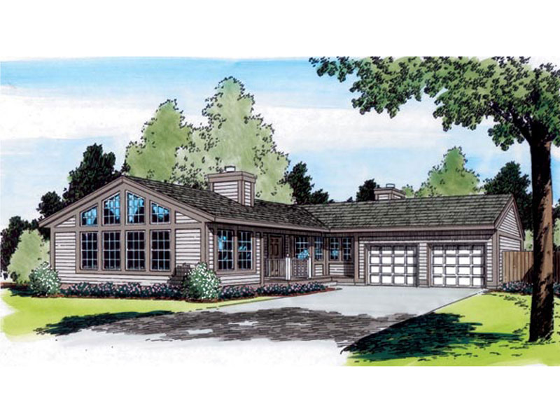 Traditional House Plan Front of Home - 038D-0618 | House Plans and More