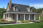 Dormers And Wrap-Around Porch Style This Home