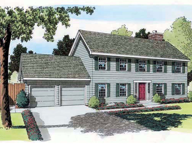 Felicia early american home plan 038d 0631 house plans for Early american house plans