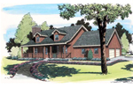 Rustic, Southern Country Design With Double Dormers