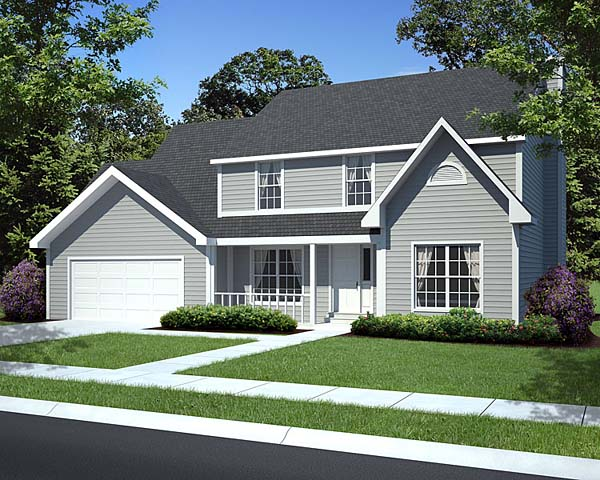 Traditional House Plan Front of Home - 038D-0635 | House Plans and More