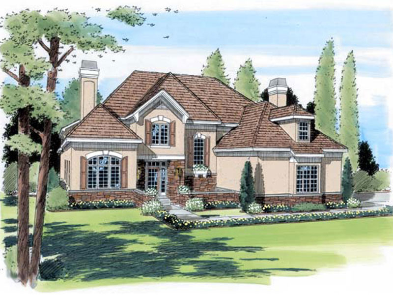 Modern House Plan Front of Home - 038D-0739 | House Plans and More