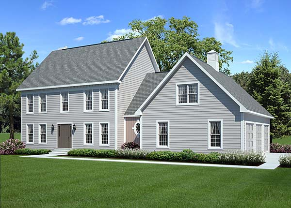 pixley classic colonial home house plan - Classic Farmhouse Plans