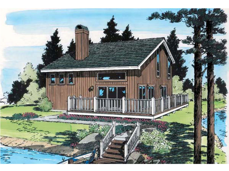 Idyllwild vacation cabin home plan 038d 0751 house plans for Vacation cabin floor plans