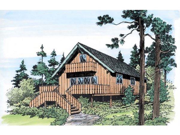 Big River Rustic Vacation Home Plan 038d 0767 House