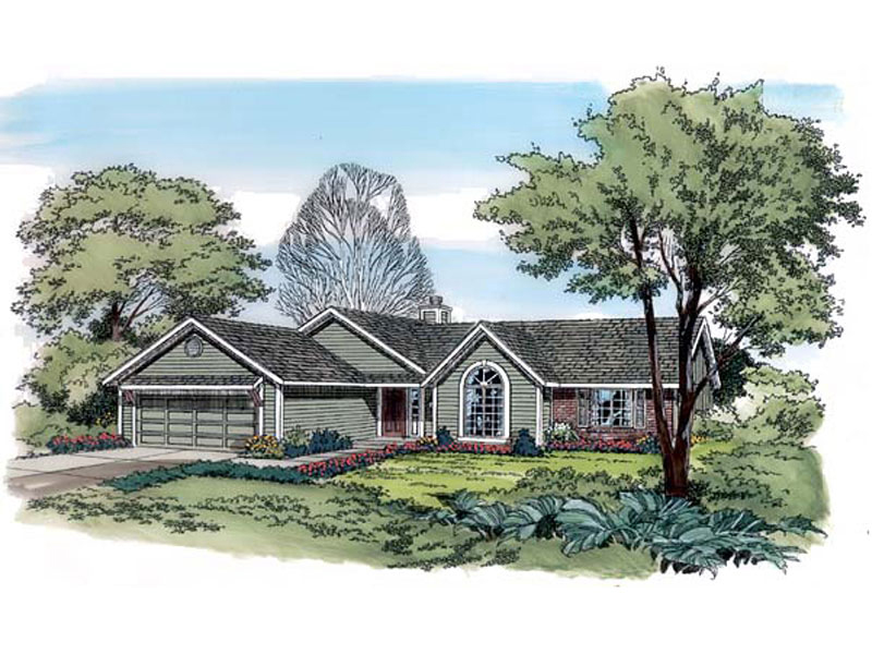 Ranch House Plan Front of Home - 038D-0782 | House Plans and More