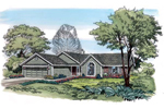 Traditional House Plan Front of Home - 038D-0782 | House Plans and More