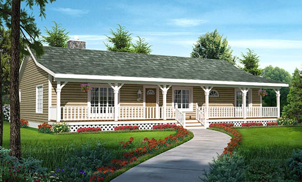 Ranch House Plan Front of Home - 038D-0783 | House Plans and More