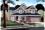Farmhouse Plan Front of Home - 038D-0784 | House Plans and More
