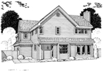 Traditional House Plan Rear Image of House - 038D-0784 | House Plans and More