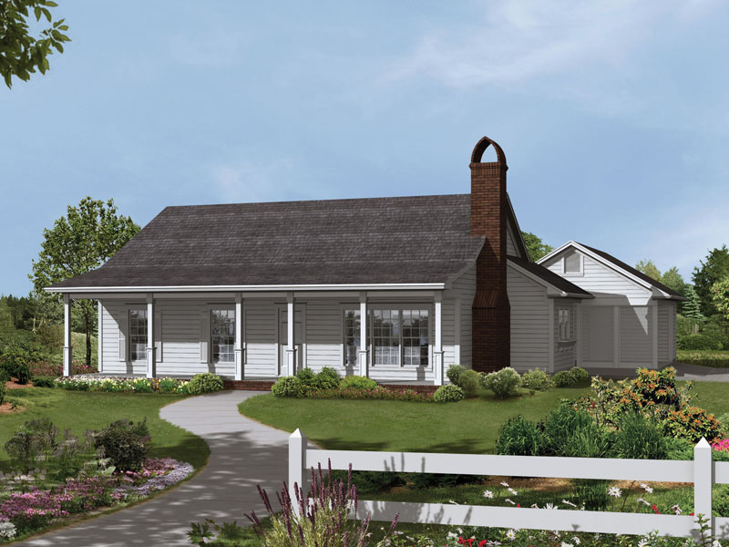 Ranch House Plan Front of Home 039D-0002