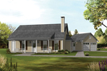 Country Style Acadian Home With Rear Entrance Garages