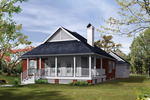 Inviting Front Porch Adds Character To This Distinct Country Plan