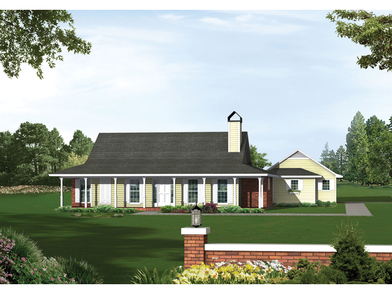 Colonial House Plan Front of Home 039D-0007