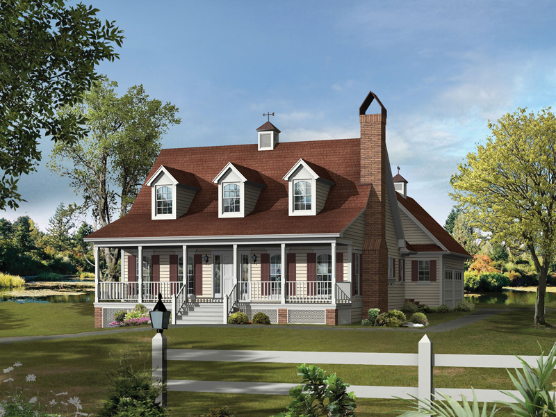 Acadian House Plan Front of Home 039D-0012