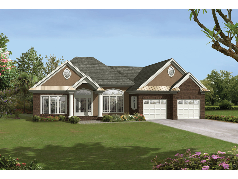 Southern House Plan Front of Home 039D-0014