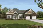 Dramatic Home With Multiple Front Features Enticing To The Eye