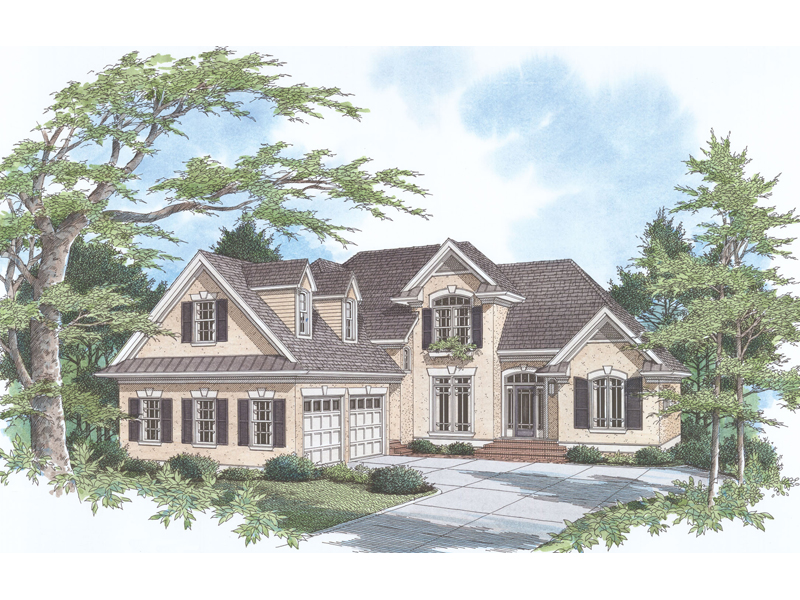 Country House Plan Front of Home - 039D-0021   House Plans and More
