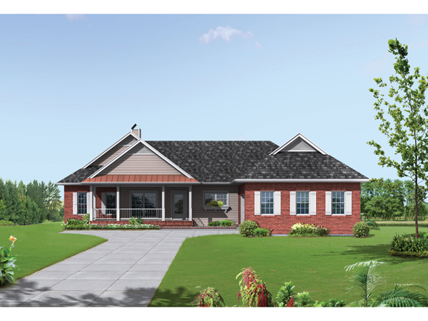 Clement southern ranch home plan 039d 0024 house plans for Southern home and ranch