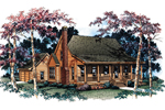 Farmhouse Plan Front Image - 040D-0001 | House Plans and More