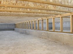 newly built crawl space foundation