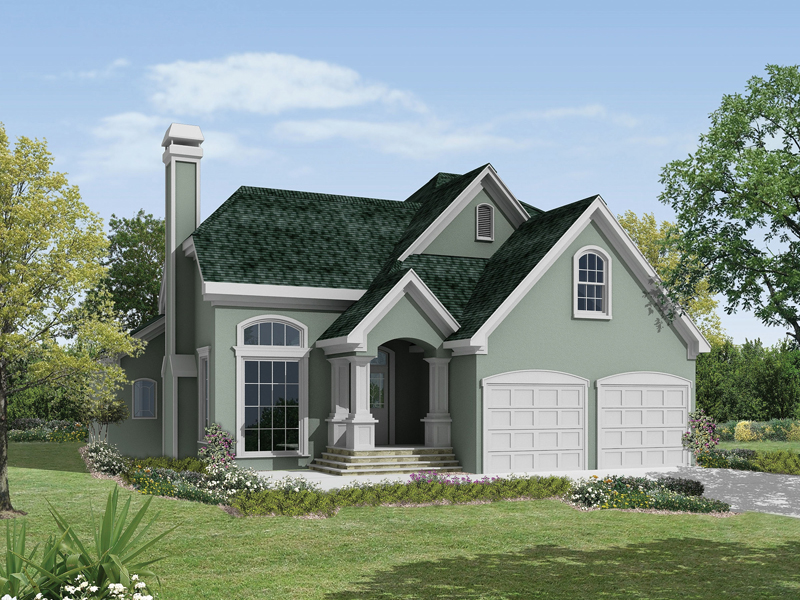 Arts & Crafts House Plan Front of Home 040D-0006