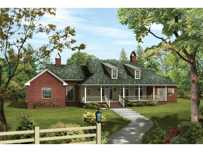 Country House Plan Front of Home - 040D-0012 | House Plans and More