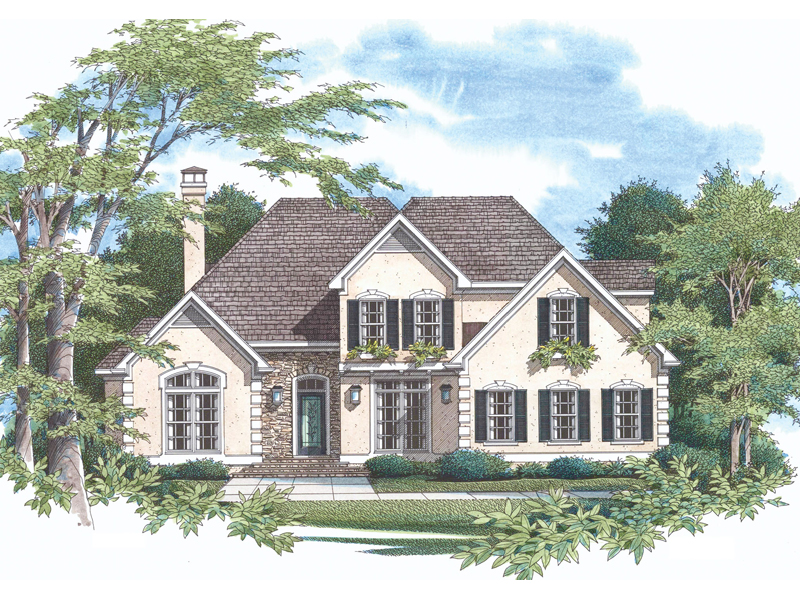 European House Plan Front of Home - 040D-0018 | House Plans and More