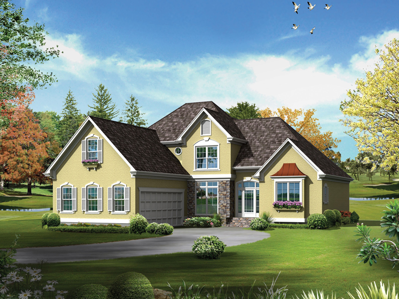 European House Plan Front of Home - 040D-0019 | House Plans and More