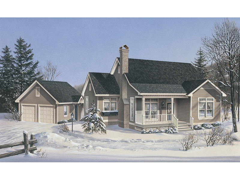 Cabin and Cottage Plan Front of Home 040D-0026